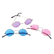 Round Colored Lens Sunglasses