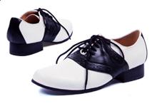 Saddle Shoes - Black and White