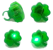 Flashing Battery Operated Shamrock Ring