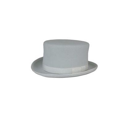 Felt Tuxedo Top Hat - Gray Coachman hat