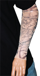 Black and White Tiger Tattoo Sleeve
