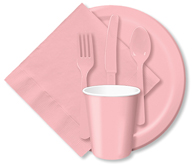 Classic Pink Cups, Plates, Napkins, Tableware