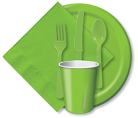 Fresh Lime Cups, Plates, Napkins, Tableware