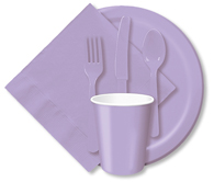 Luscious Lavender Cups, Plates, Napkins, Tableware