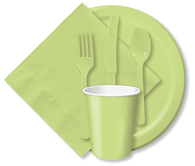 Pistachio Cups, Plates, Napkins, Tableware