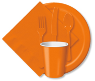 Sunkissed Orange Cups, Plates, Napkins, Tableware