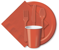 Terra Cotta Cups, Plates, Napkins, Tableware