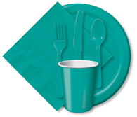 Tropical Teal Cups, Plates, Napkins, Tableware