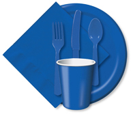 True Blue Cups, Plates, Napkins, Tableware