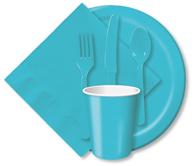 Bermuda blue plates, napkins, etc