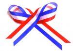Tri-Stripe Red/White/Blue Acetate Ribbon