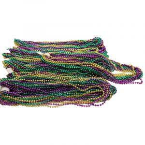 Bag of 156 Mardi Gras Bead Necklaces