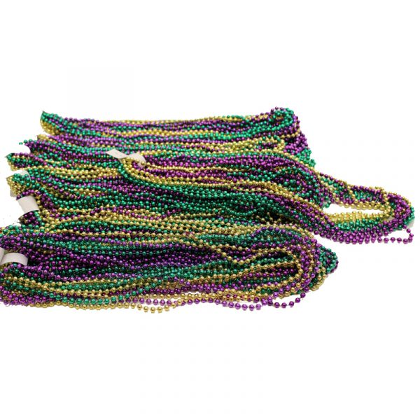Bag of 156 Mardi Gras Bead Necklaces