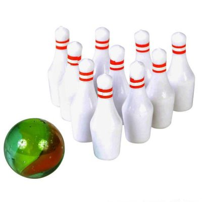 Mini Bowling Ball & 10 Pins Set