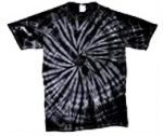 Tye Dye T-Shirt - Black Spider