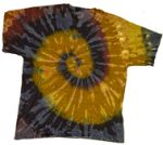 Tye Dye T-Shirt, Brown/Blue/Burgundy
