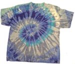 Tie-Dye T-Shirt, Mixed Blue