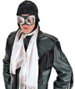 Fabric Aviator Scarf - White