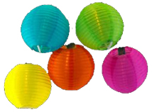 Round Chinese Lantern Party Light set - Chinese New Year