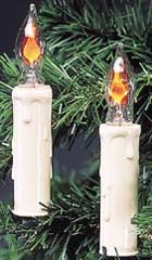 7 light Flicker Flame Candle Tree Light Set