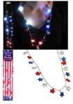 Flashing Patriotic Star Necklace