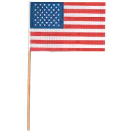 U.S. Plastic Flag - 4 Inch x 6 Inch - 1 Dozen