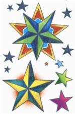 Vintage - Stars Tattoo