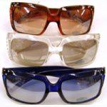 Rhinestone trim sunglasses