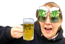Green Beer Mug Sunglasses