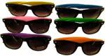 Solid Color Dark Frame Wayfarer Sunglasses