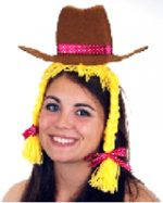 Cowgirl Headband with Braided Hair