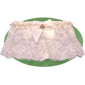 Rose/Lace Garter - White