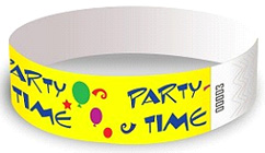 Wristbands - Bright Yellow Party Time