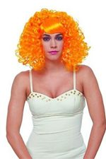Wig Short Curly Orange Urban Diva