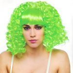 Urban Diva Green Curly Wig