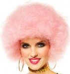 70's Wig Afro Icy Pink Dancing Queen