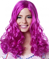 Fuchsia wavy wig with bangs Party Girl Wig Blonde