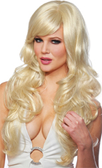 DeLovely Wig Blonde long wavy hair costume wig