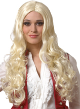 Sultry Wig Blonde Long Wavy off-Center Part