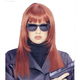 Wig: Straight Red Hair & Bangs