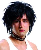 80's Unisex Wig Black