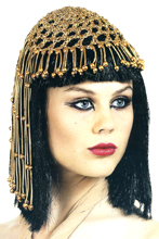 Eqyptian Queen Wig and Beaded Headpiece