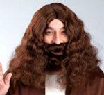 Jesus Wig & Beard Set - Brown