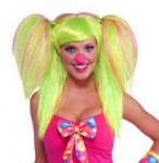 Lollipop Lily Green and Pink Pigtail Wig