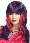 Luscious Layers Wig - Black and Red