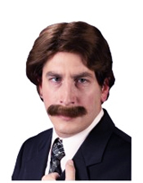 70s Man Wig and Moustache