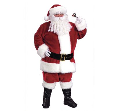 Santa Suit Plush Red Velvet