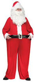 Fat Santa Claus Hoop Waist Jumpsuit