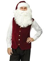 Santa Velvet Vest and Hat with white fur