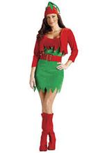 Elfalicious Elf Dress, Bolero Jacket and Elf Hat